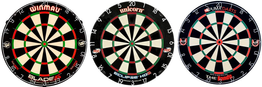 Winmau, Unicorn, Puma, Blade Dartboards